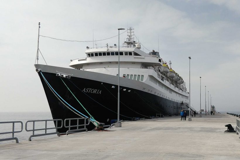 CMV first ship to use New Visby cruise terminal today