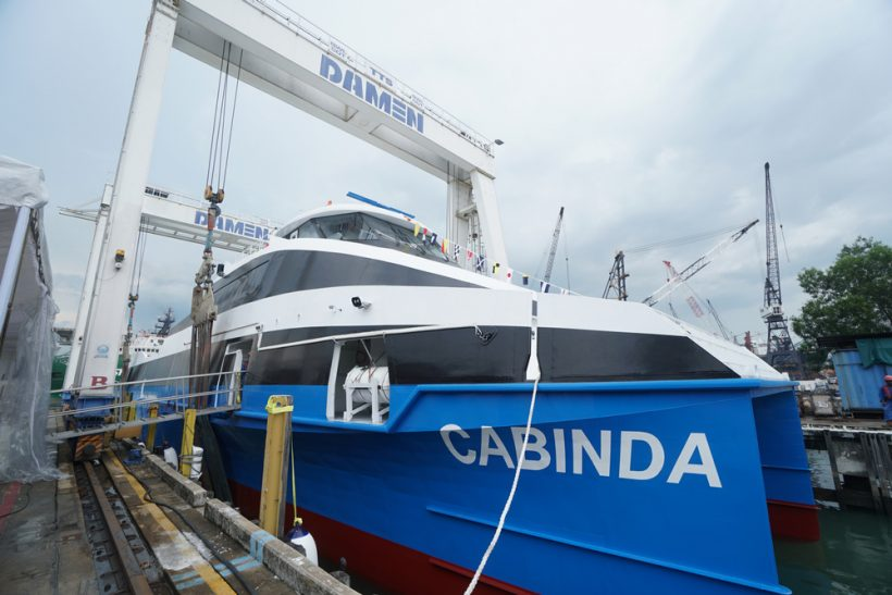 Fast ferry for Angola launched at Damen Shipyards Singapore