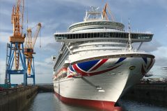 P&O Cruises Ventura completes two-week docking at Damen Brest