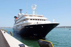 First cruise ship calls at Poole's new South Quay