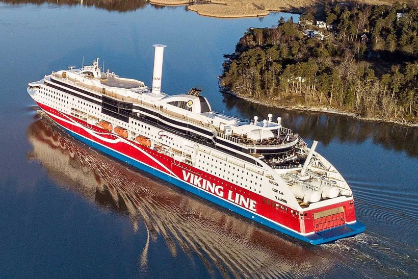 Viking Grace becomes first passenger ship in the world to use a rotor sail for wind-assisted propulsion