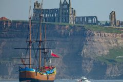 HM Bark Endeavour arrives in Whitby as visitor attraction
