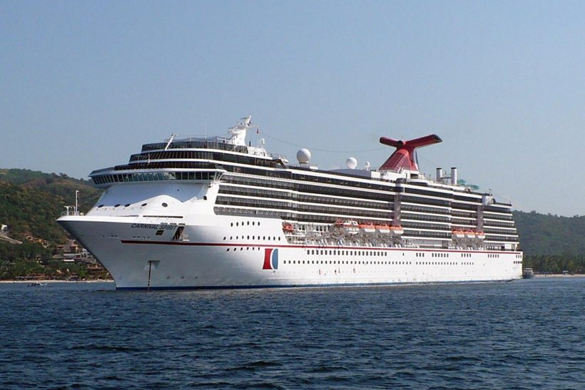Carnival Spirit back after dry-docking