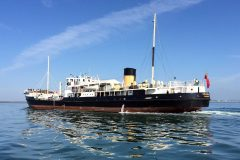 Heritage steamship Shieldhall puts the flags out