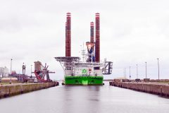 Wind turbine jack-up Sea Installer completes eight-day stopover