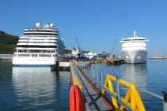 A luxurious day for Portland Port with two cruise callers