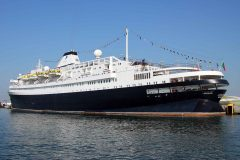 Cruise ship Astoria makes history at Poole