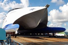 SMS completes major fast ferry refit in Cherbourg