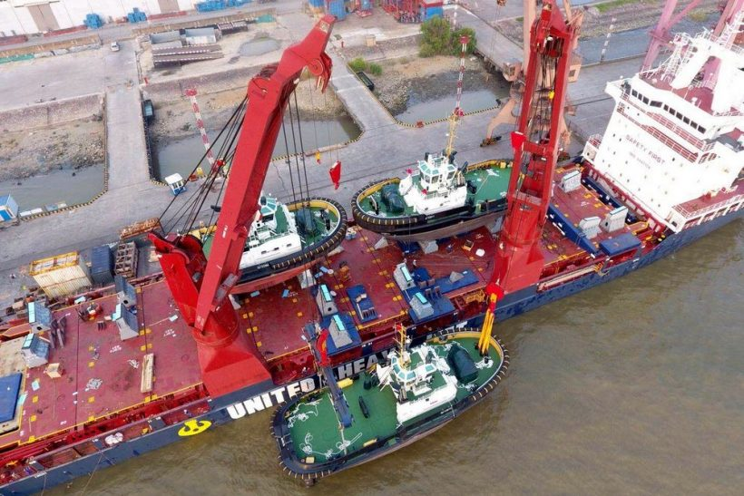 Damen stock vessels to arrive from China in the Port of  Rotterdam