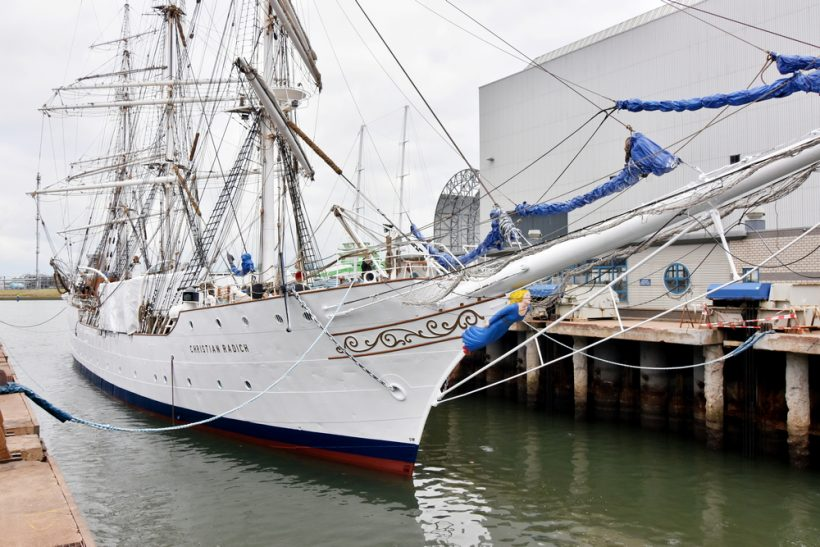 Tall Ship Christian Radich visits Damen Shiprepair Harlingen for repairs and refit