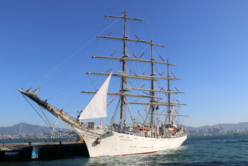 Polish Tall Ship Calls in Hong Kong