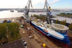 Seismic vessels complete tandem drydocking at Damen