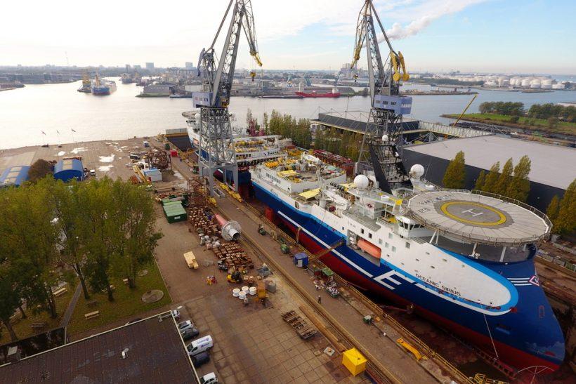Seismic vessels complete tandem drydocking at Damen