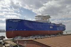 Bibby WaveMaster Horizon named  at Damen Shipyards Galati