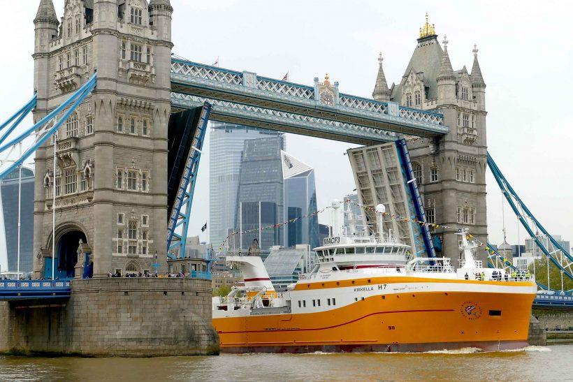 Fishing vessel Kirkella royal naming in London