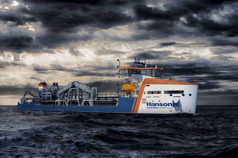 Damen and Hanson sign contract on new dredger