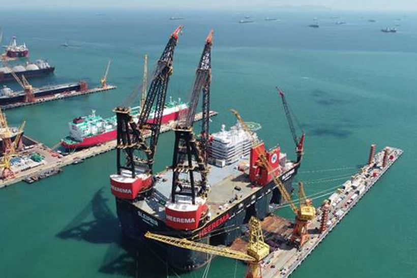 World's biggest semi-submersible crane vessel