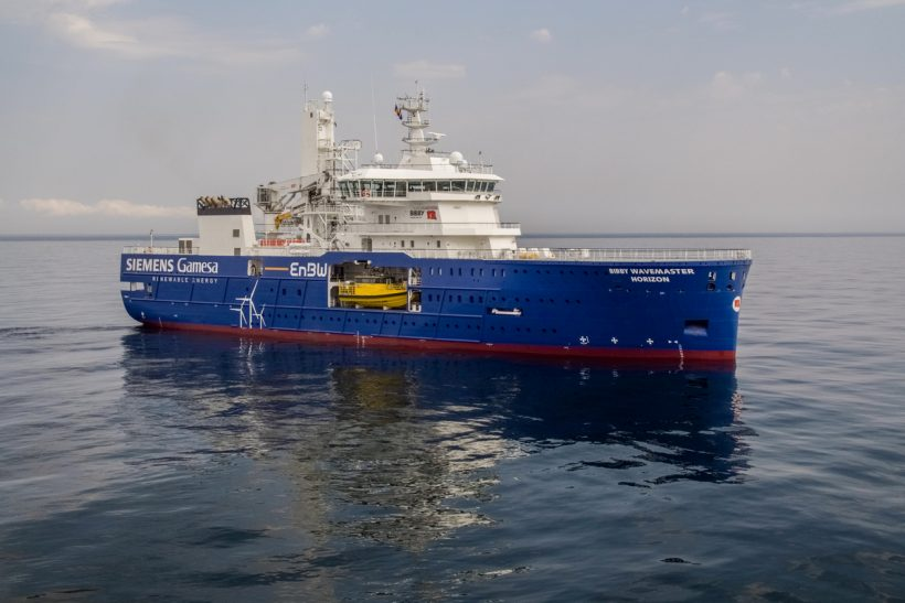 Second of Damen's wind farm maintenance ships delivered to Bibby
