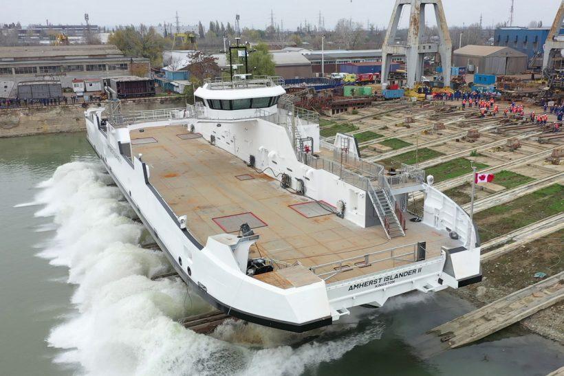 Ferry launched at Damen Shipyards Galati