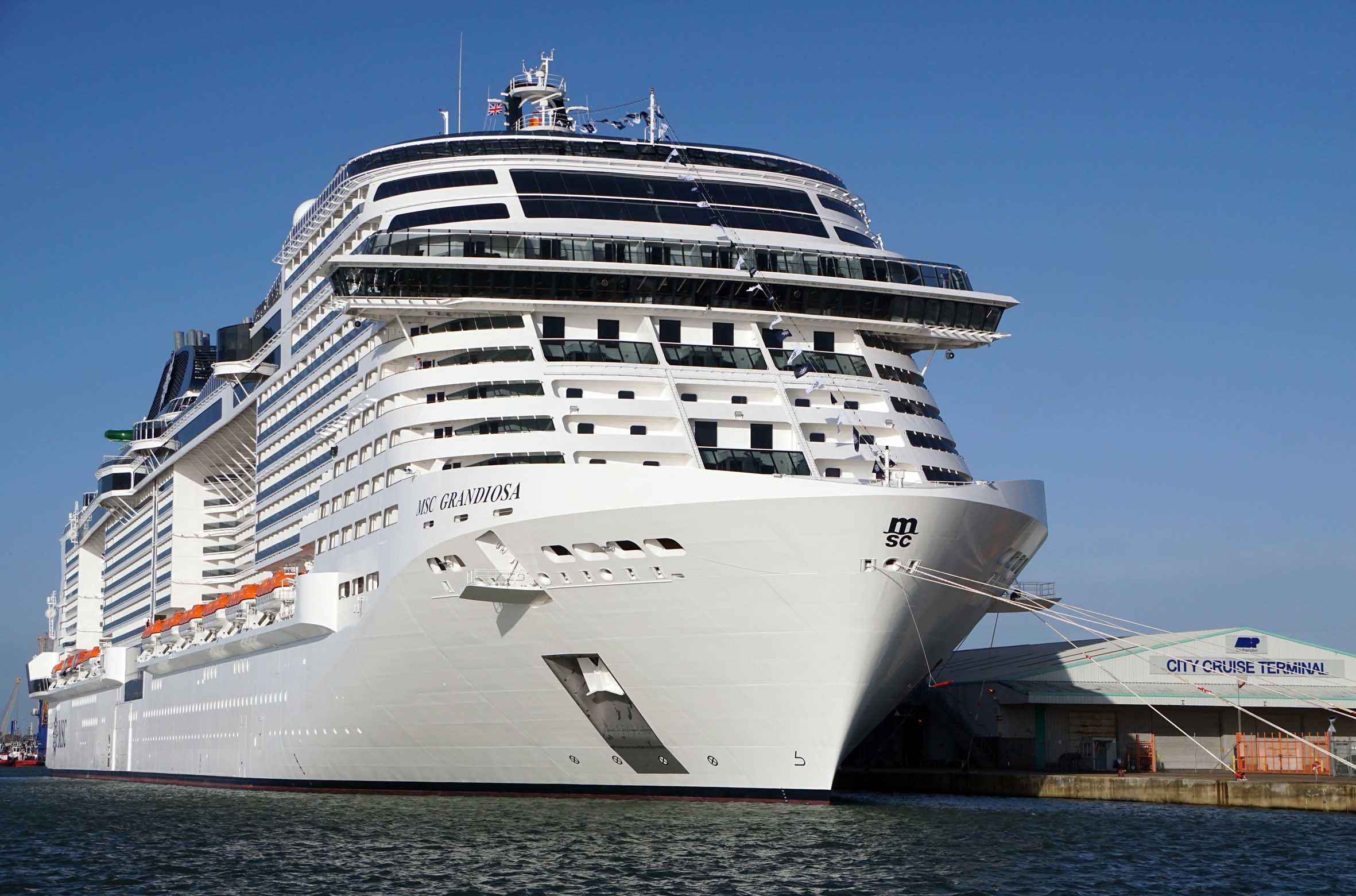 MSC Grandiosa arrives in Southampton for an extended stay ...