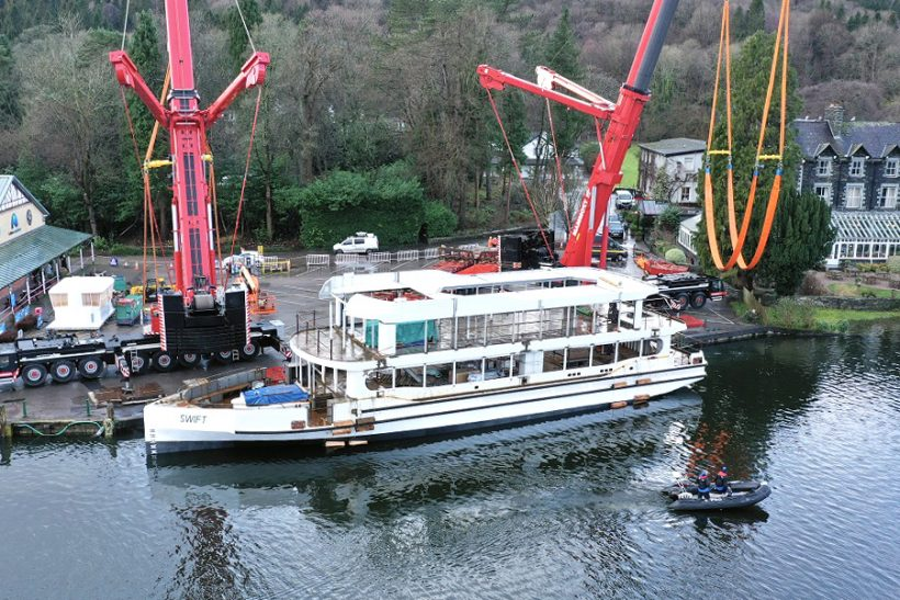 Windermere Lake Cruises new vessel launched