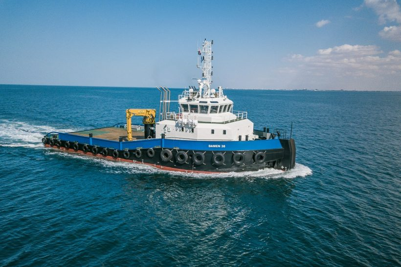 Damen's Ultra Shallow Draught Shoalbuster ready for action