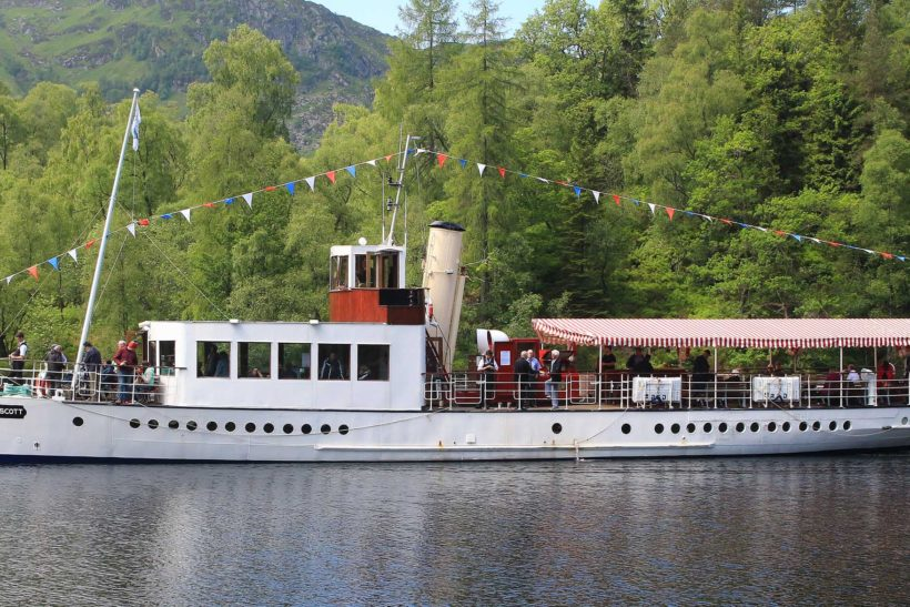 Loch Katrine steamer out of steam