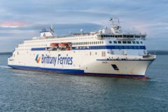 Galicia arrives in Portsmouth for trials and service with Brittany Ferries