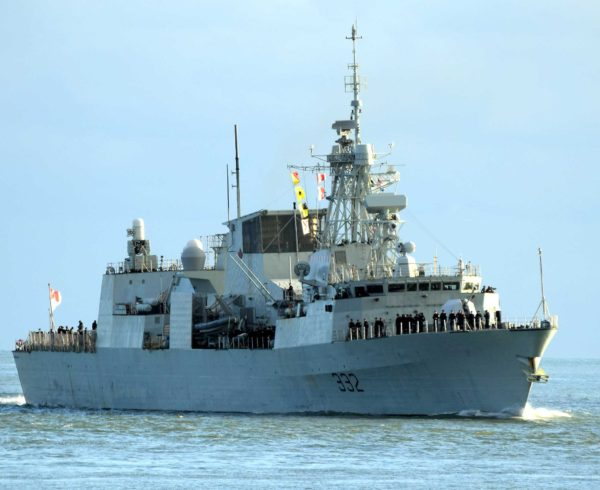 Canadian Frigates come to Portsmouth