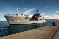 HNLMS Pelikaan back in Curaçao after midlife upgrade  by Damen