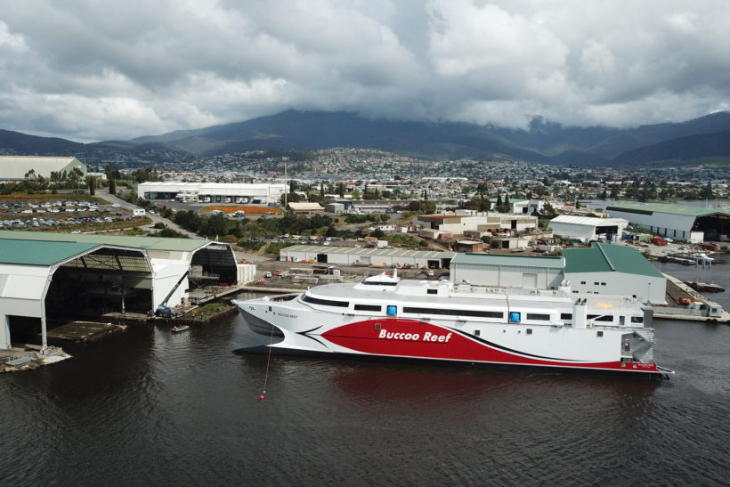 Incat launches 100m ship for Trinidad and Tobago