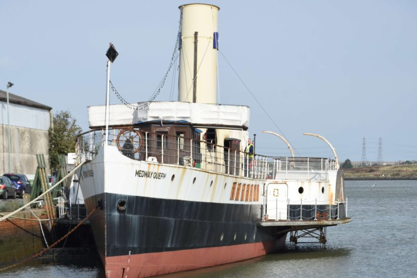 Medway Queen Flagship Pennant Unfurled