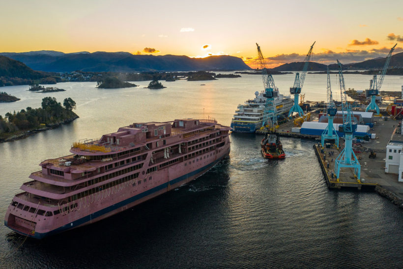 Outfitting starts at Ulstein Verft for next Lindblad Expedition's cruise vessel