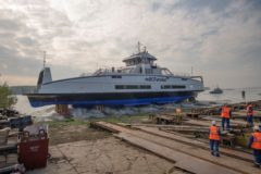 Damen launches third Island Class vessel for BC Ferries