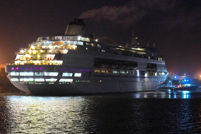 Cruise ship Columbus departs Tilbury