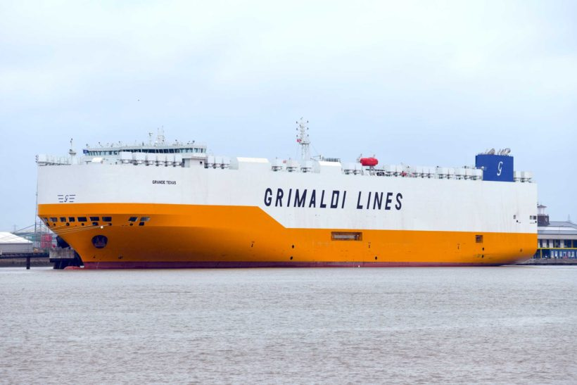 Car carrier Grande Texas debuts on the Thames