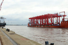 Arrival of five CRMG cranes at Liverpool marks significant milestone