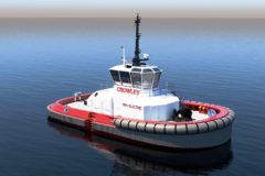 Crowley completes first US design for Fully Electric Tug