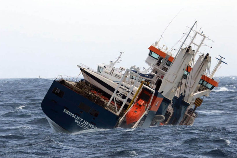 Crew rescued from listing Dutch cargoship Eemslift Hendrika off Norway