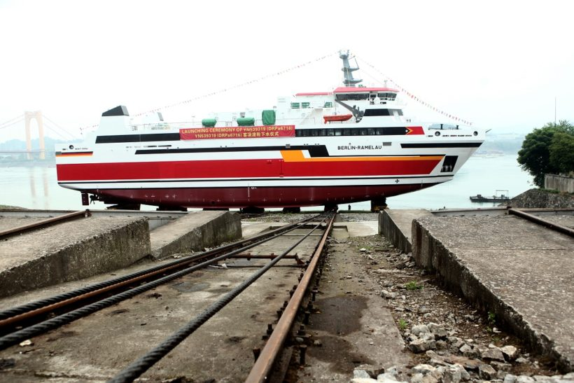 Damen launches RoPax 6716 for the Port Authority of Timor-Leste