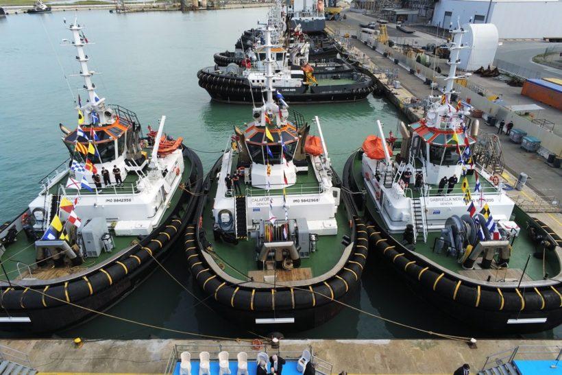 Fratelli Neri holds naming ceremony for three  Damen RSD Tugs 2513