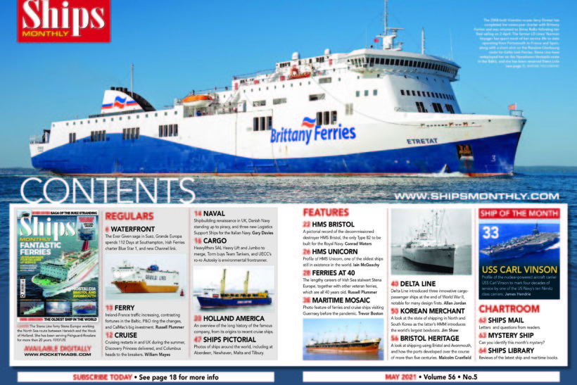 Get your copy of the May issue of Ships Monthly