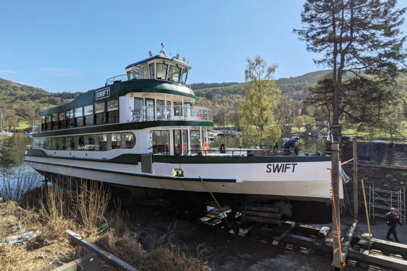 Windermere's newest vessel  shipshape and ready for passengers