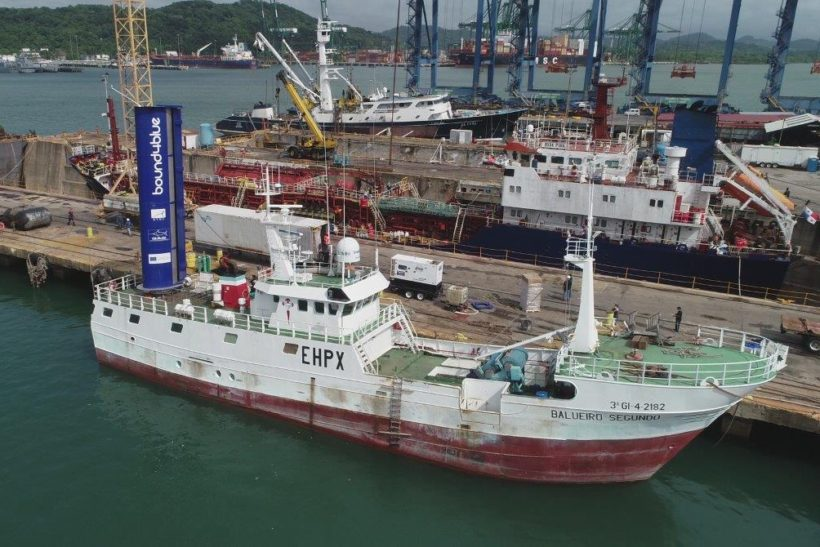 Fishing vessel fitted with wind-assisted propulsion technology