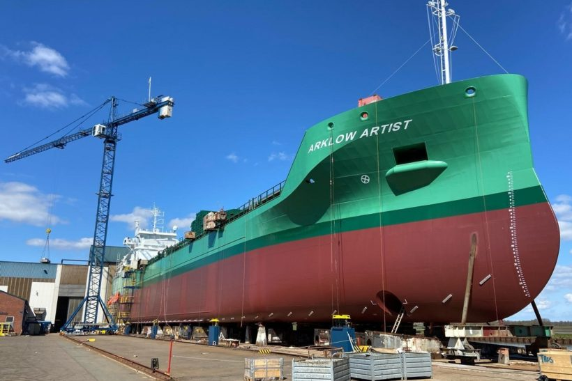 Damen Marine Components delivers high-lift rudders for ten Arklow vessels