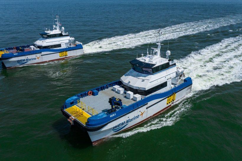 Strategic Marine Delivers Pair of 27m Crew Transfer Vessels to WEM Marine Ltd