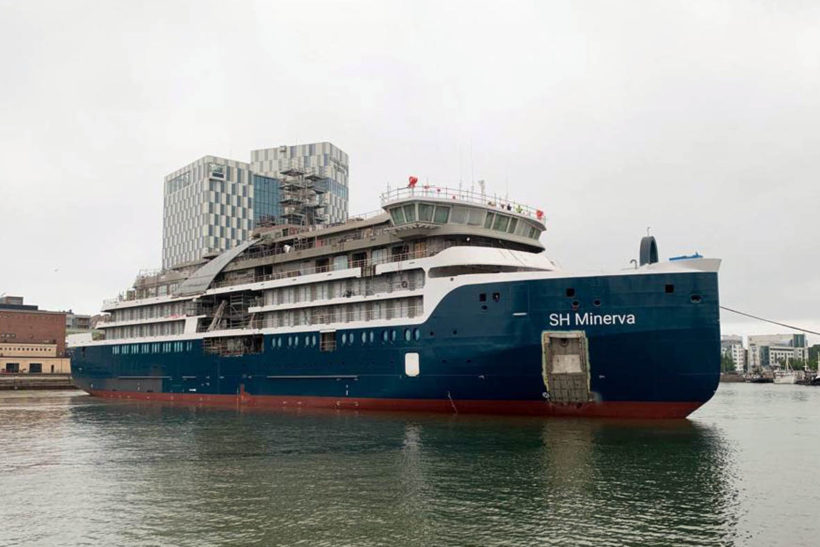 Swan Hellenic's first bespoke expedition cruise ship SH Minerva floated out