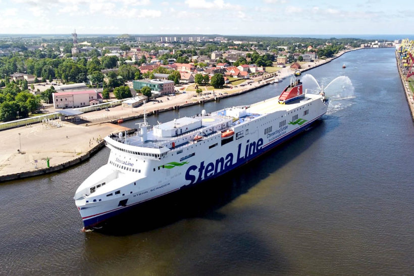 Stena Line's new modern ferry Stena Scandica arrives in Latvia