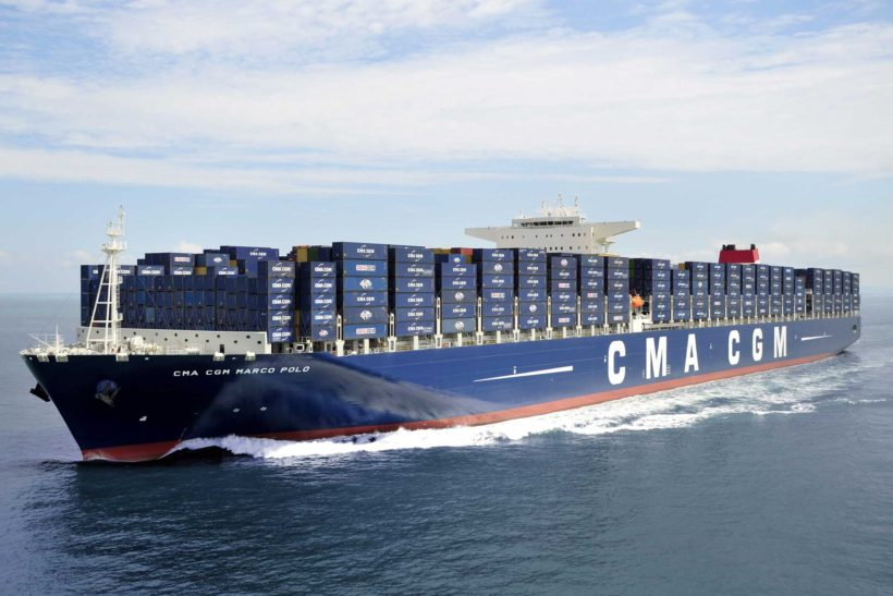 CMA CGM Marco Polo largest boxboat on North American east coast