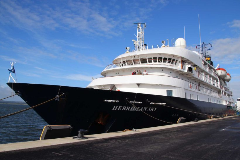 Hebridean Sky diverted to Poole for maiden call